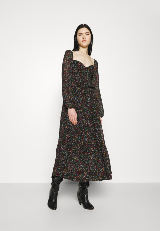 BOROGODO MAXI DRESS - Denní šaty - black/multi-coloured