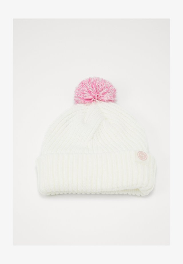 CIRCLE CAT REMOVABLE POM BEANIE - Čepice - bright white
