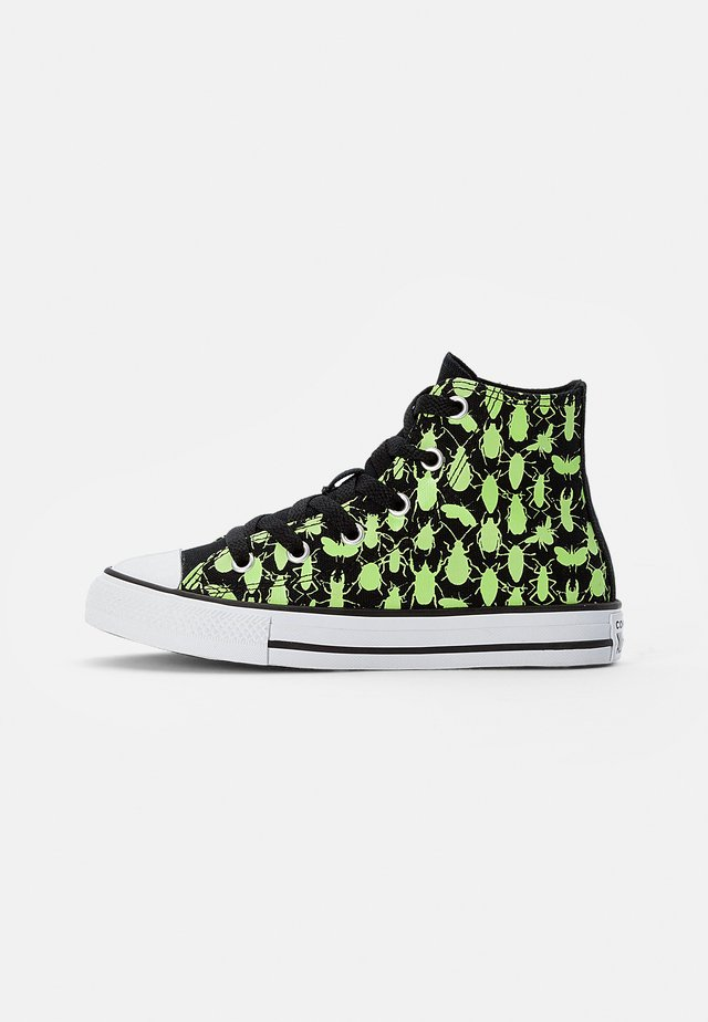 CHUCK TAYLOR ALL STAR GLOW BUG - High-top trainers - black/ceramic green/white