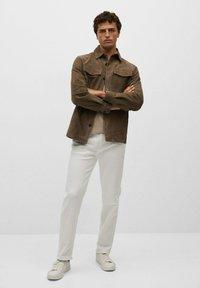 Mango - Leather jacket - hellbraun/pastellbraun - 1