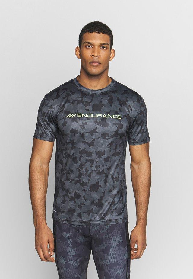 DIEN PRINTED TEE - T-shirt con stampa - black