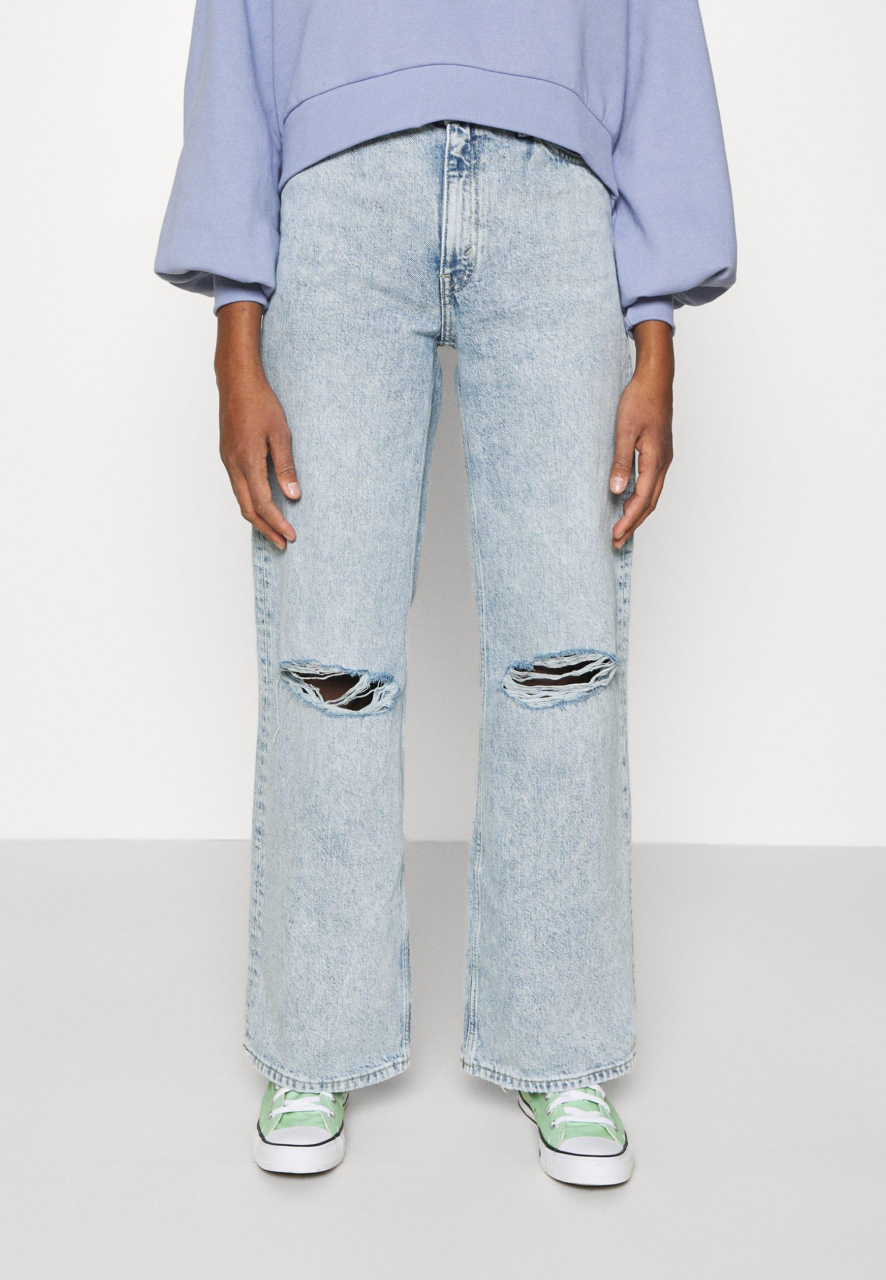 Women Straight leg jeans - blue dusty light