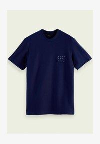 Scotch & Soda - TWILL STRUCTURED - Print T-shirt - midnight - 4