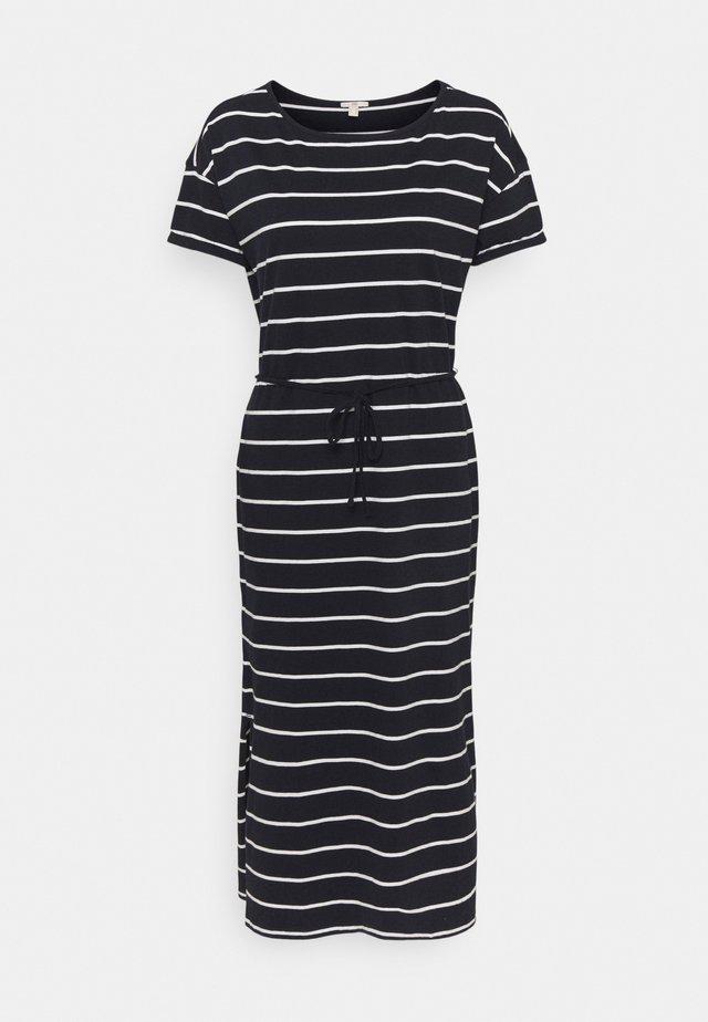 CRISPY DRESS - Jersey dress - navy
