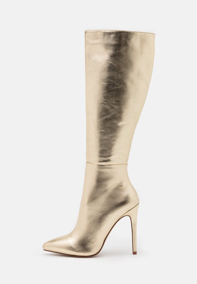 LAVERNE - High heeled boots - gold