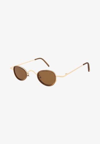 Sunglasses - matt gold & matt clear coffee