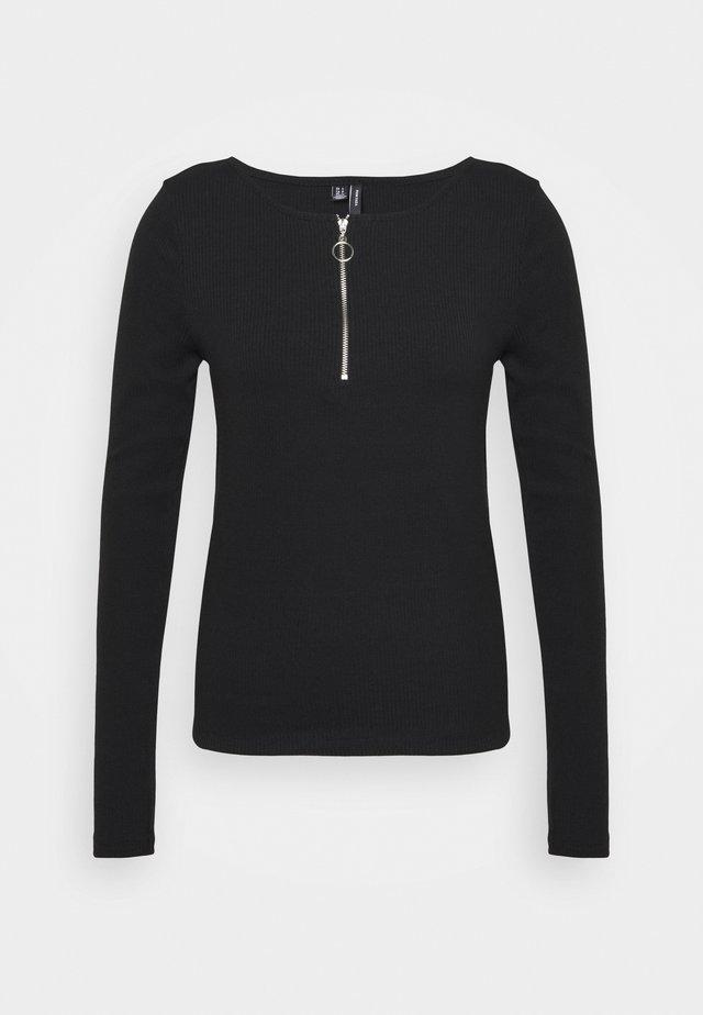 VMRUTH ZIPPER TOP  - Long sleeved top - black
