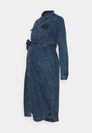 PCMGAMIR - Denim dress - medium blue denim