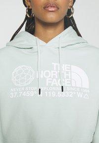 The North Face - COORDINATES CROP DROP HOODIE - Sweatshirt - green mist - 5