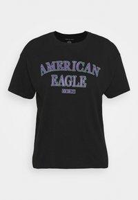 American Eagle - BRANDED BRIGHTS SANTA MONICA TEE - Print T-shirt - true black - 0