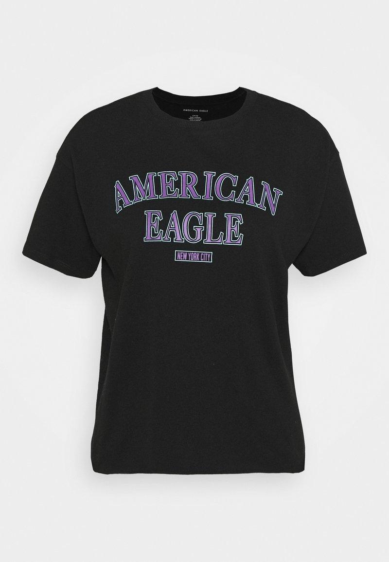 American Eagle - BRANDED BRIGHTS SANTA MONICA TEE - Print T-shirt - true black