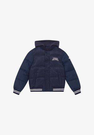 HOODED PADDED QUILTED - Winter jacket - blue