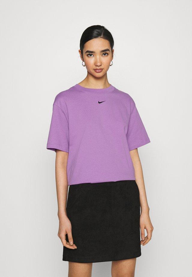 T-shirt basique - violet shock/black