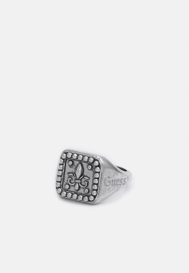 SQUARED SIGNET GIGLIO - Bague - antique silver-coloured