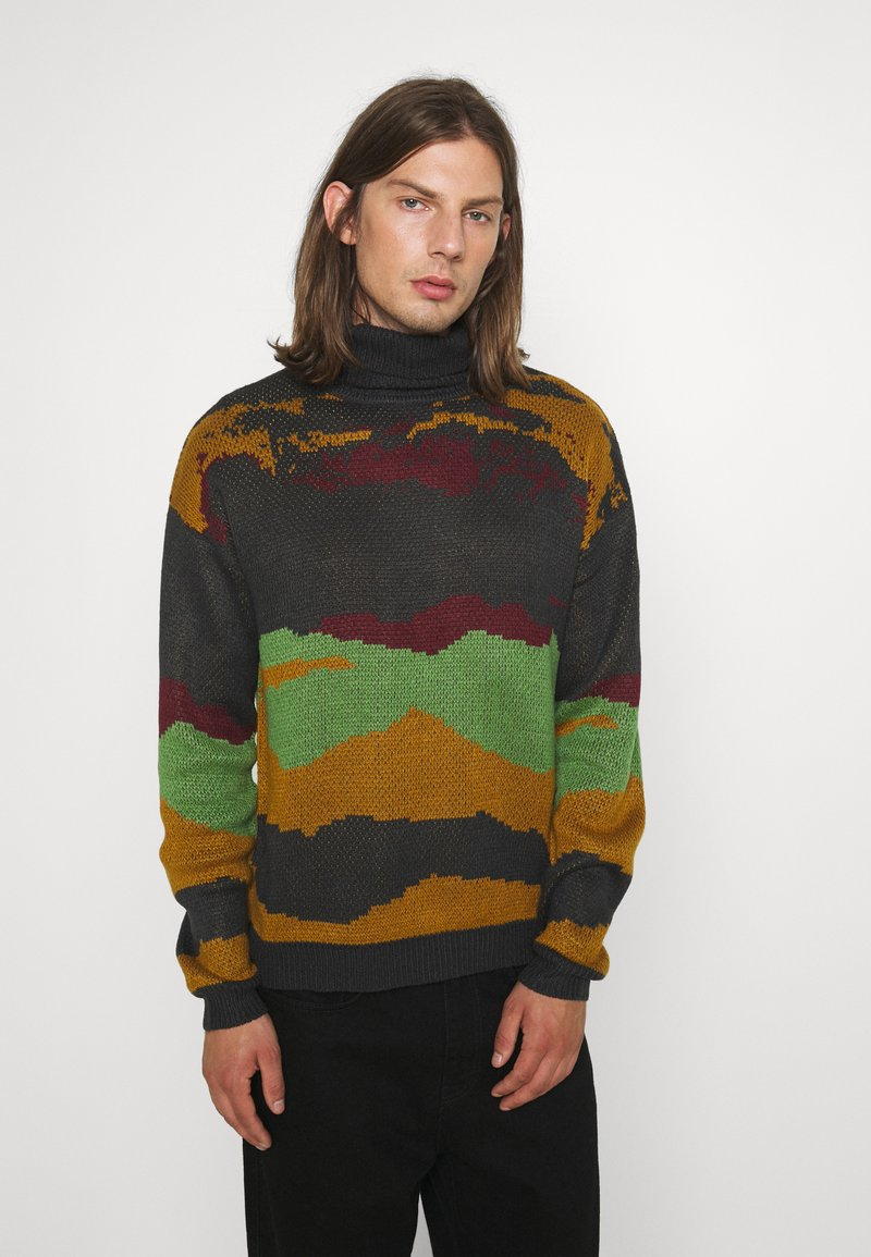 Another Influence - ROLL NECK SCENIC JUMPER - Trui - charcoal