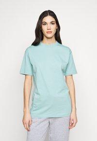 Missguided Tall - SHOULDER OVERSIZED 2 PACK  - Basic T-shirt - blue/white - 3