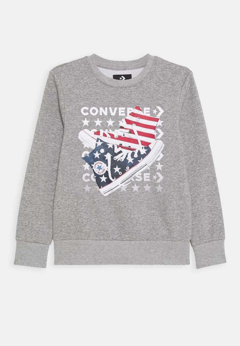 Converse - AMERICANA SHOES CREW - Sweatshirt - dark grey heather