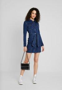 Vero Moda - VMTARA SHORT DRESS - Denim dress - dark blue denim - 2