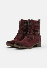 Mustang - Lace-up ankle boots - bordeaux - 2