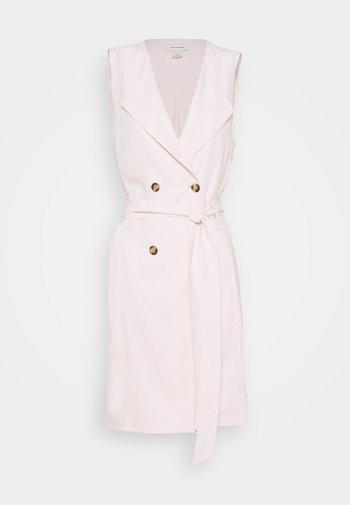 BELTED WRAP MINI DRESS - Shirt dress - light pink