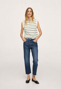 Mango - Straight leg jeans - donkerblauw - 1