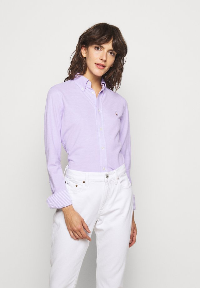 HEIDI LONG SLEEVE - Button-down blouse - english lavender