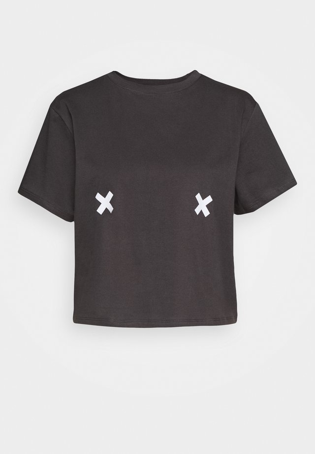 FREE THE NIPPLE TEE - T-shirt con stampa - asphalt