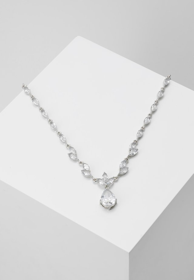 ONLFINE NECKLACE - Smykke - silver-coloured/clear