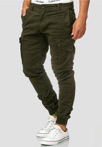 INDICODE JEANS - ALEX - Cargo trousers - dark green - 3