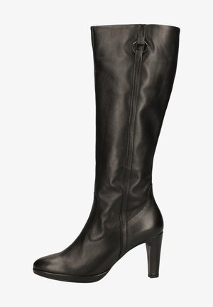High heeled boots - schwarz