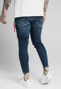 SIKSILK - DISTRESSED  WITH ZIP DETAIL - Jeans Skinny Fit - midstone blue - 2