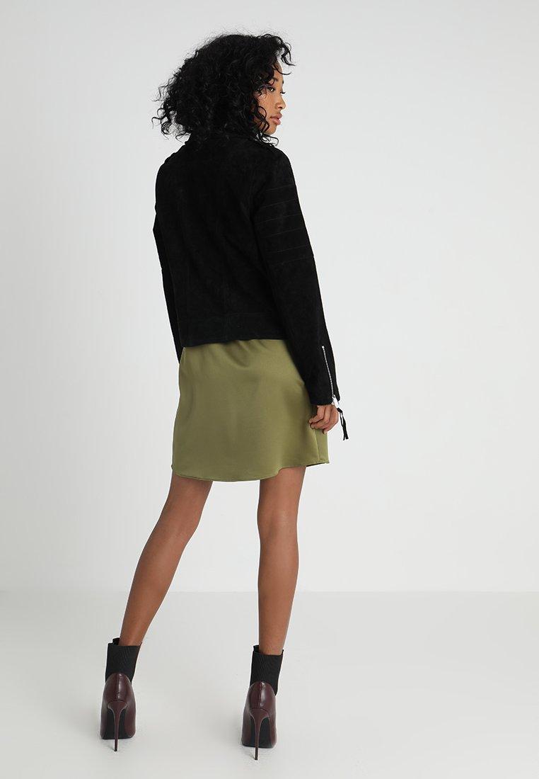Vila VICRIS - Leather jacket - black - Women's winter clothes tez9Y
