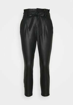 VMEVA PAPERBAG - Trousers - black