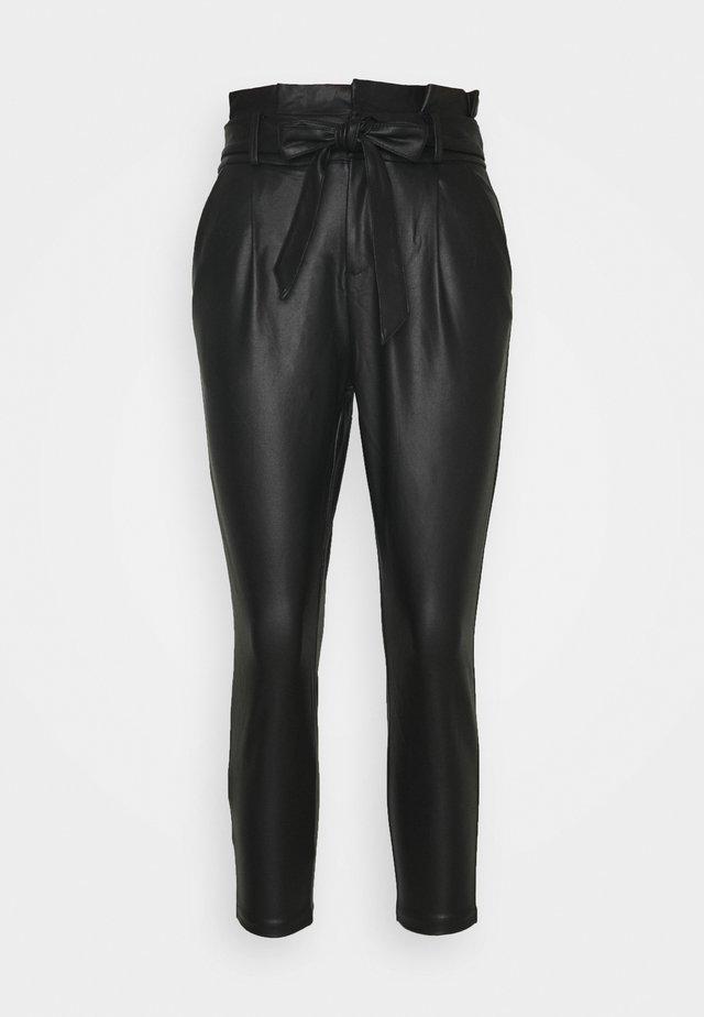 VMEVA PAPERBAG - Pantalon classique - black