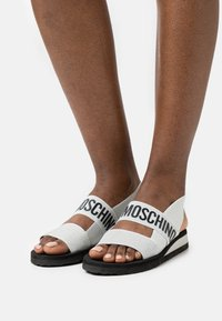 Love Moschino - Wedge sandals - argento - 0