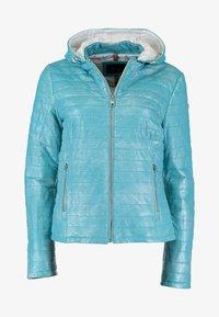 DNR Jackets - MIT KAPUZE - Leather jacket - turquoise - 0