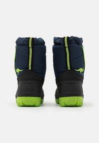 KangaROOS - K-BEN - Winter boots - dark navy/lime - 2