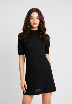 PUFF SLEEVE MINI DRESS - Robe pull - black