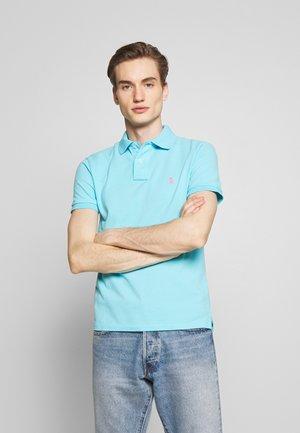 SHORT SLEEVE KNIT - Poloshirt - french turquoise
