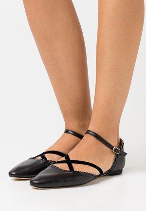 PAMINA - Ankle strap ballet pumps - noir