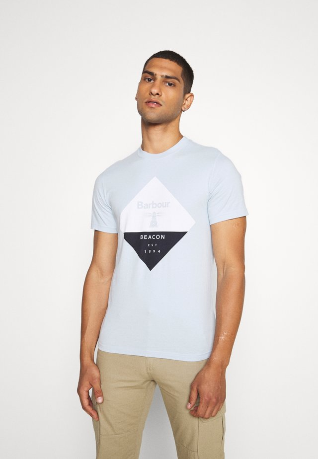 DIAMOND TEE - T-shirt imprimé - pale sky