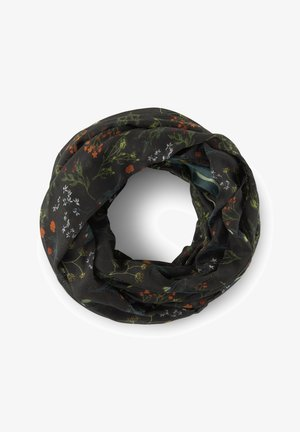 Snood - black flower print