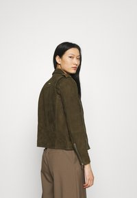 Deadwood - RIVER - Leather jacket - gobi - 2