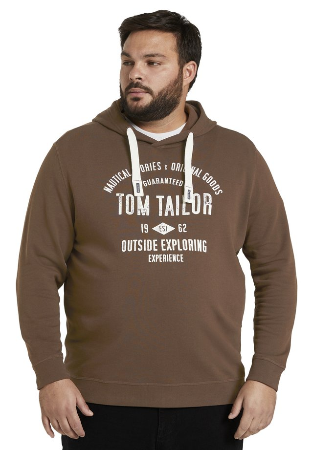 WITH PRINT - Hoodie - delicioso brown