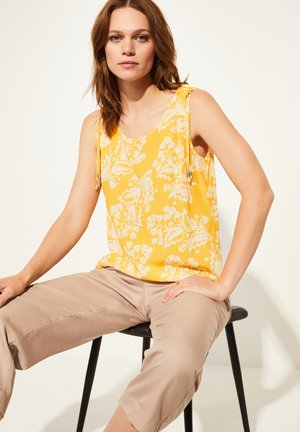 Blouse - yellow two tone flowers