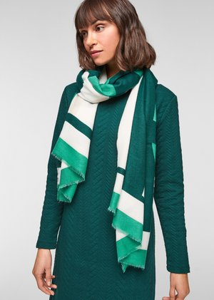 MIT WORDING - Scarf - green placed print