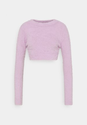HAIRY CROP  - Pullover - lila