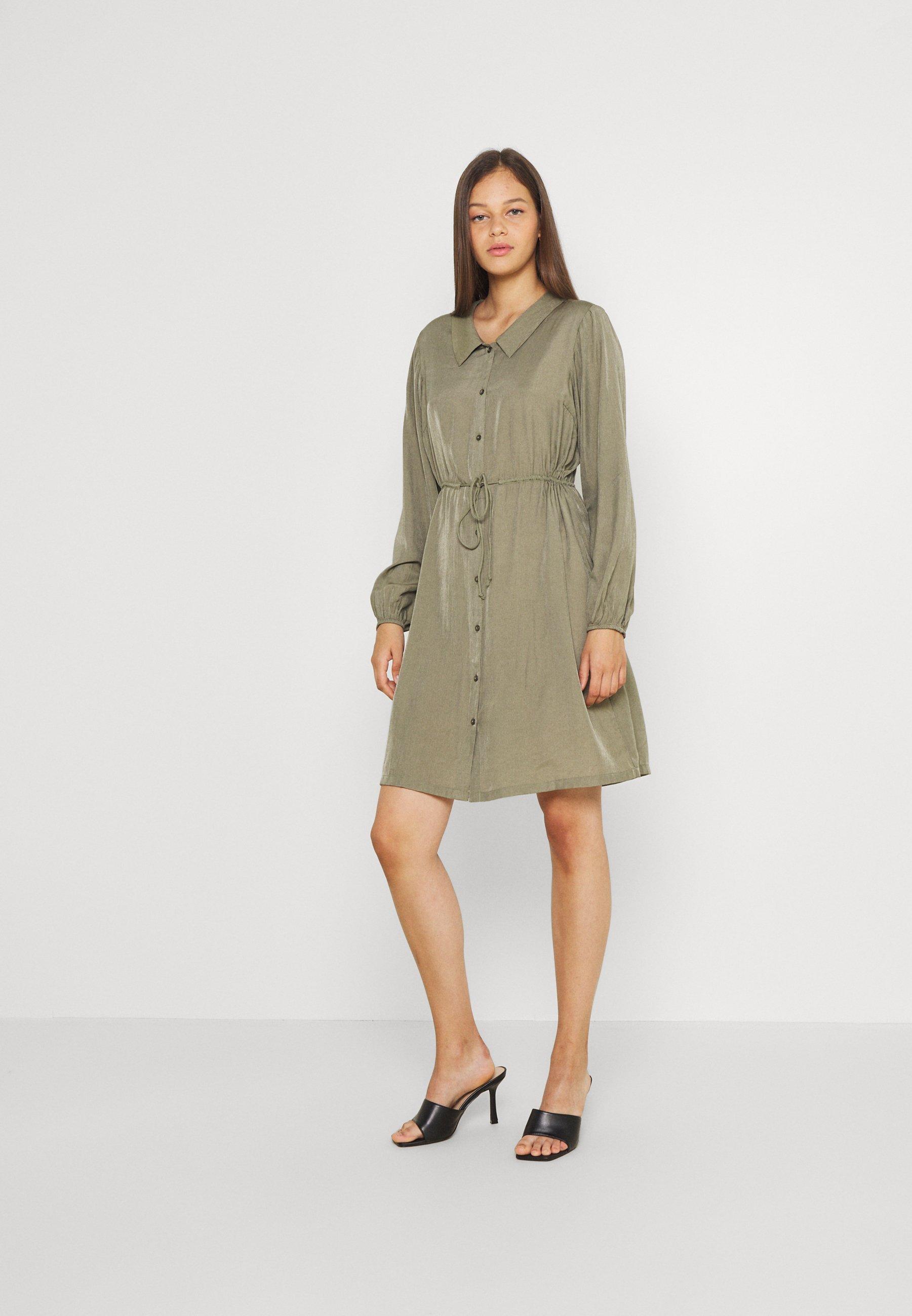 Mujer PCFRAYSON SHIRT DRESS - Vestido camisero