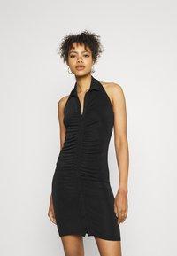 Gina Tricot - DOLLY HALTERNECK DRESS - Cocktail dress / Party dress - black - 0