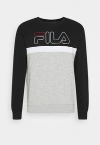 Fila - LAURUS CREW - Sweatshirt - light grey melange/black/bright white - 3